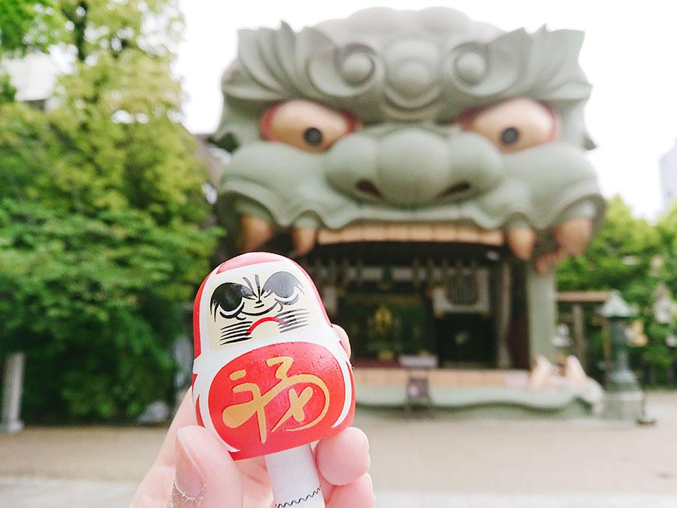 大阪八坂神社 獅子-3