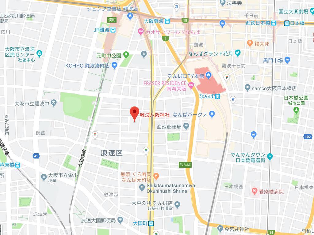 難波八阪神社-地鐵出口
